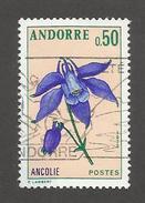 ANDORRE - N°YT 230 OBLITERE - COTE YT : 1.55€ - 1973