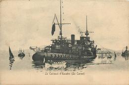 """BATEAUX  Bateau De Guerre """"le Carnot """" Cuirassé D'escadre  2scans - Guerra"""