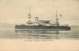 """BATEAUX  Bateau De Guerre """" Latouché Treville """" Cuirassé D'escadre  2scans - Guerra"""