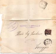 1907 LETTERA CON ANNULLO CARPI + CORREGGIO - Storia Postale