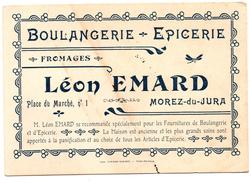 Carte Publicitaire Morez Du Jura Boulangerie Emard - Cartes De Visite