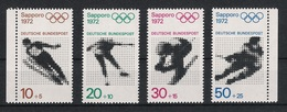 BRD 1971 Mi# 684-87 ** MNH Sport Olympische Spiele Olympics Sapporo 1972 München