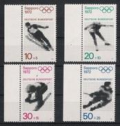 BRD 1971 Mi# 680-83 ** MNH Sport Olympische Spiele Olympics Sapporo 1972 München