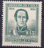 CHILI- 1957  - YT Nr. 258  - Personalités - NEW - ** - Chili