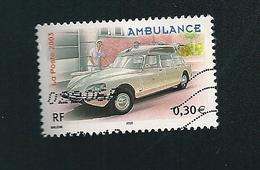 N° 3617 Utilitaires Et Grandes échelles  Ambulance   France Timbre Oblitéré 2003 - France