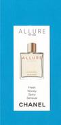 Cartes Parfumées Carte CHANEL  ALLURE  HOMME  De CHANEL - Cartes Parfumées