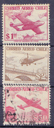 CHIL I-  1956 - YT Nr.PA164, 165 En 167 - Mi Nr. 509,510 En 512  - ° - Chili