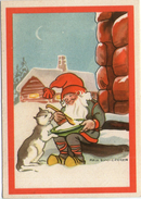 Mini AK - Zweden / Sweden - Christmas - Artist Signed: Maja Synnergren - Kabouter - Gnome - Lutin - Zwerg - Non Classificati