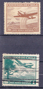 CHIL I-  1954- YT Nr.PA128 En PA143 - Mi Nr. 448 En 482  - ° - Chili