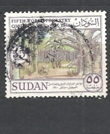 SUDAN  1960 The 5th World Forestry Congress, Seattle  USED - Sudan (1954-...)