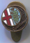 ALFA ROMEO - Car, Auto, Automotive, Enamel, Vintage Pin, Badge, Abzeichen, Button Hole, OMEA - Alfa Romeo