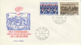 ITALIA - FDC RODIA 1964 - ARMA DEI CARABINIERI - 6. 1946-.. República