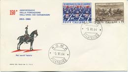ITALIA - FDC SERIE DEL SOLE 1964 - ARMA DEI CARABINIERI - 6. 1946-.. República