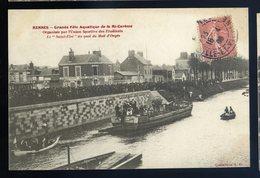 Cpa Du  35  Rennes - Grande Fête Aquatique De La Mi - Carême  -- Le Saint Eloi Au Quai Du Mail D' Onges  NCL48 - Rennes