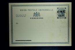 Hong Kong:  Postcard 1 Cent Surcharged On 4 Cents Not Used - Hong Kong (...-1997)
