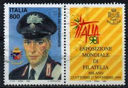"""PIA - ITA -1998:Esposiz. Mondiale Di Filatelia """"Italia 98"""" :Giornata Delle Forze Armate - Carabinieri (SAS 2375) - 1946-.. République"""