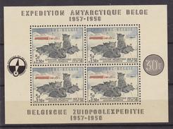 BELGIQUE  BLOC 31  EXPEDITION ANTARCTIQUE BELGE  MNH**  POLAIRE  CHIENS  COTE: 170 EUROS