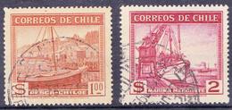 CHILI-  1938 -  YT Nr. 174 En 176 - Mi Nr. 239 En 241 - USED - ° - Chili