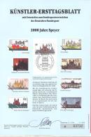 Bund  Künstler-Ersttagsblatt  1/1990  #  03732   2000 Jahre Speyer - Usados