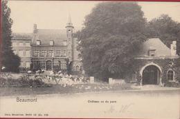 Beaumont Chateau Vu Du Parc Hainaut Henegouwen CPA - Beaumont