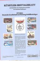 Bund  Künstler-Ersttagsblatt  16/1990  #  04510   125 Jahre  Deutsche Gesellschaft Zur Rettung Schiffbrüchiger - [7] Federal Republic