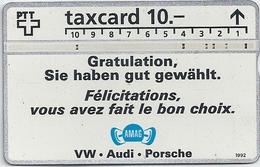 Switzerland - Swisscom - AMAG - VW-Audi-Porsche - 06.1992 - 206L - 38.000ex, Used - Switzerland