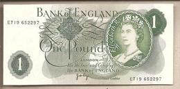 Inghilterra - Banconota Non Circolata FdS Da 1 Sterlina - 1970 - 1952-… : Elizabeth II