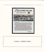 SAMOA AMERICAINES - BLOC 1989 MNH** - APIA HURRICANE 1989 WORLD STAMP EXPO 89 - DOCUMENT DE LA POSTE - Samoa Américaine