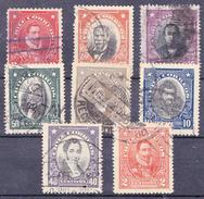 CHILI-  1911...1915  - Mi Nr. 95,105,110,119,121,122,124,127 - YT 87,92,96,109,111,113,116,119 - USED - ° - Chili