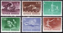 INDONESIE 1960 - YT 377 - 378 - 382 - 384 - 387 - 388   -  Communications  - NEUFS** - Indonésie