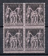 FRANCE - YT N° 103 Bloc De 4 - Neufs **  - Cote 135,00 € - Voir Descriptif -