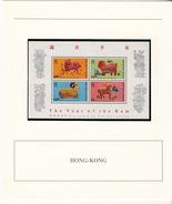 HONG-KONG  - BLOC 1991 MNH** - THE YEAR OF THE RAM 1991  - DOCUMENT DE LA POSTE - Hong Kong (1997-...)