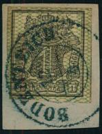 1856, 1 Sgr. Breitrandig Auf Briefstück Mit Blauem Stempel BODENTEICH.