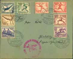 1936, Olympiafahrt Mit Komplettem Satz Ab FRANKFURT A. MAIN, LZ 129 - Zeppelins