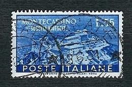 ITALIA 1951- Ricostruzione Dell'Abbazia Di Montecassino - 55 L. Azzurro - Sa 665 - 1946-60: Usati