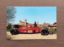Cartolina In Bianco Con La Ferrari F1 E Il Castello Di Vignola (MO) - Grand Prix / F1