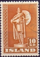 Jsland 1941-50 10kr Viking Tanding 11½  GB-USED. - 1944-... Republik
