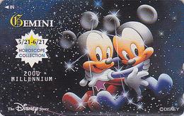 Télécarte NEUVE Japon / 110-211035 - DISNEY STORE - Zodiaque GEMEAUX - GEMINI Horoscope Japan MINT Phonecard - Disney
