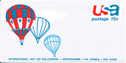 USA Aerogramme 1973  In Mint Condition International Hot Air Ballooning