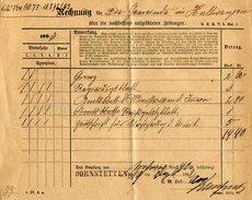 Wuerttemberg / 1892 / Postschein (Zeitungs-Rechnung) L1-o DORNSTETTEN (2377)