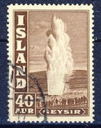 #Iceland 1939. Geysir. Michel 213. Used - Usados