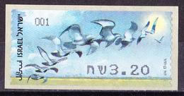 Israel - ATM Mi.Nr. 61 - Postfrisch MNH - Tiere Animals Vögel Birds - Franking Labels