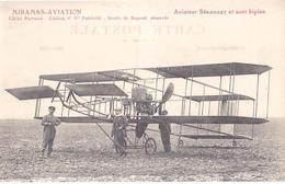 13 / MIRAMAS AVIATION / AVIATEUR SERAILLET ET SON BIPLAN - France