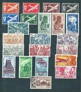 France Colonie Inde PA Complet  De 1942/54  N°1 A 22  Neufs * Sauf N°22 Qui Est Oblitéré - India (1892-1954)