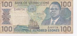 100 Leones 1989. - Sierra Leone