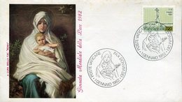 18184 Vaticano, Special Cover And Postmark 1982 Painting Of A Madonna With Child Of The Peace