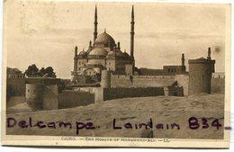 - Le Caire - CAIRO - The Mosque, Of Mohammed Ali, Mosquée, écrite En 1932, TBE, Timbre, Scans. - Cairo