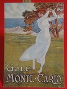 Cartes Postales > Thèmes > Publicité > Golf, Monté Carlo - Non Circulé - Publicité