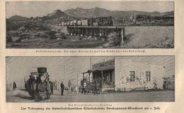 Zur Vollendung Der Südwestafrikanischen Eisenbahnlinie Swakopmund-Windhock /Druck, ,entommen Aus Zeitschrift /1902 - Livres, BD, Revues