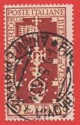 1949 (594) Biennale Di Venezia Lire 5 Usato - Leggi Il Messaggio Del Venditore - 6. 1946-.. República